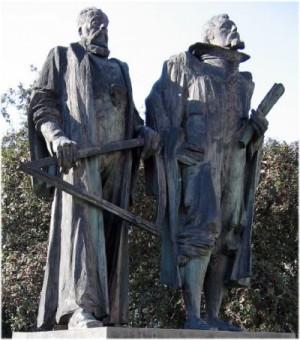 Tycho Brahe y Johannes Kepler. Praga