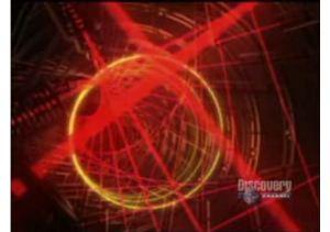 Luz láser en circulos. Discovery Channel.